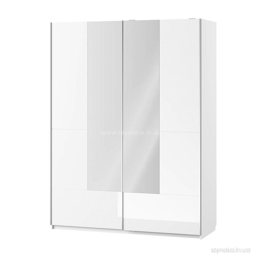 Шкаф-купе 2д Selene 30 с зеркалом цвет белый